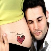"Tatouage bedondi ""Fait avec amour"""