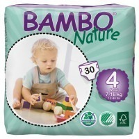 Couches Bamboo nature jetables 7/18 kg