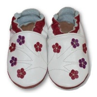 Chaussons cuir souple Cherry blossom