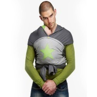 Echarpe de portage BYKAY Gris/Vert