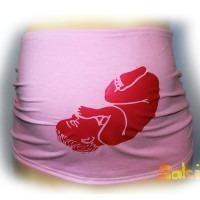 Bandeau de grossesse bébé rose TU