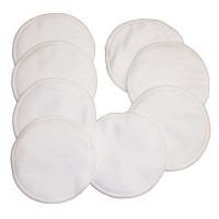 8 coussinets d'allaitement lavables