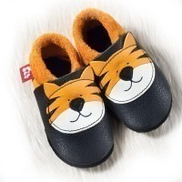 Chaussons cuir souple Pololo Tiger