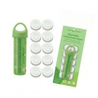 Tube de lingettes compressées Green Sprouts