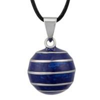 Bola bleu et lignes horizontales argentées