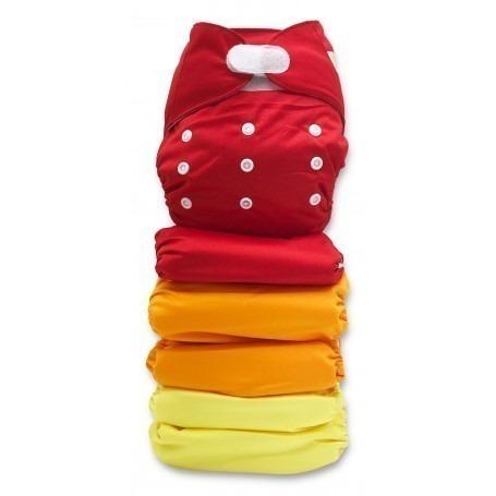 Pack de 5 couches lavables TE1 velcros