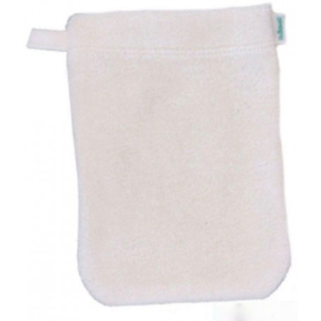 Gant de toilette Ecru Tissu éponge tricoté GOTS