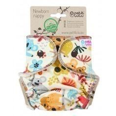 Couche lavable Nouveau Né à Velcros Koala - Petit Lulu