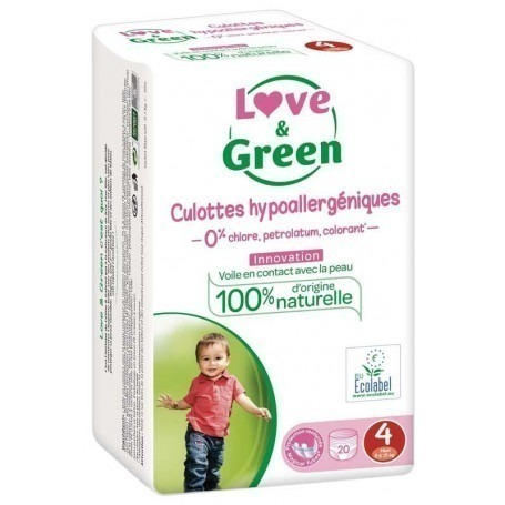 Love & green - 20 Couches d'apprentissage (T4) - 7/14kg