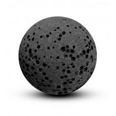 Balle noire en pierre de lave 18mm pour bola cage