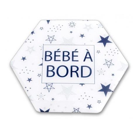 Adhésif écologique «Bébé à Bord» motif Étoiles