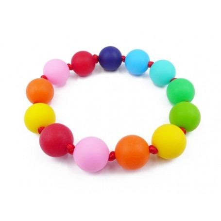 Bracelet de dentition bébé en silicone Multicolore