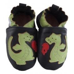 Chaussons bébé Dragon en cuir souple