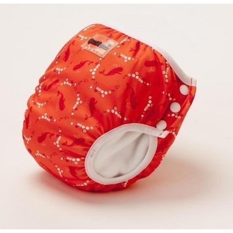 Culotte apprentissage et Maillot de bain Bulles Rouges - Bambinex