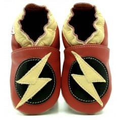 Chaussons cuir garçon Flash