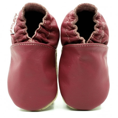 Chaussons cuir fille Rose
