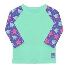 T-shirt plage bébé Vert Violet - Bambino Mio