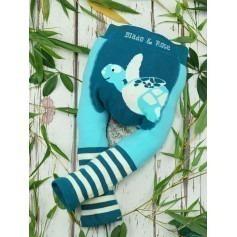 Legging bébé coton bio WWF Tortue - Blade & Rose