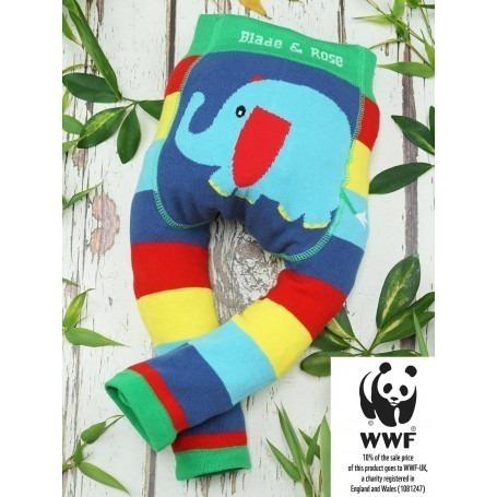 Legging bébé coton bio WWF Elephant - Blade & Rose