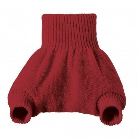 Culotte shorty Rouge en laine mérinos bio - Disana