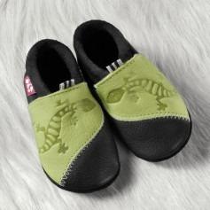 Chausson cuir bébé Gecko - Pololo