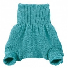 Culotte shorty Bleu en laine mérinos bio - Disana