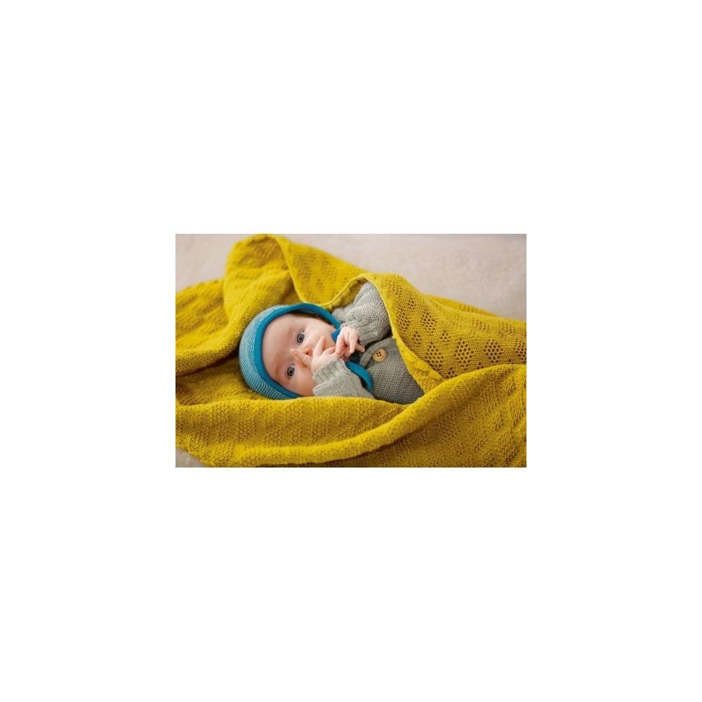 Disana Bébé Tricot Couverture//Bébé Couverture Pure Bio-Merino Laine Couverture Couverture