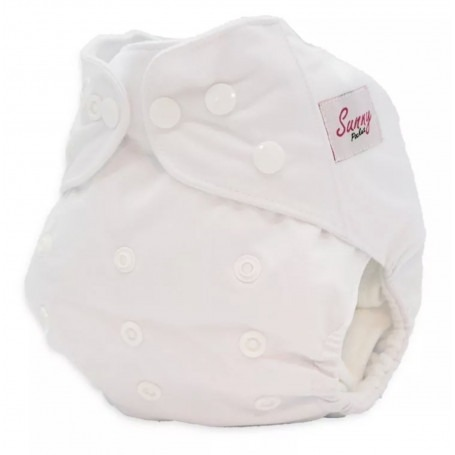 Couche lavable TE1 Sunny pocket uni Blanc