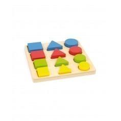 Puzzle bébé formes géométriques en bois