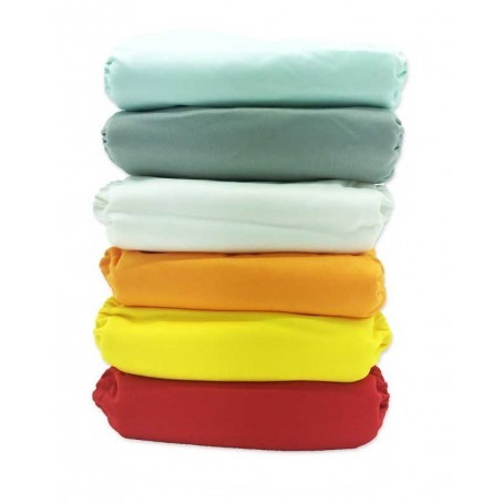 Pack de 6 couches lavables TE1 Pressions - Sunny Pocket