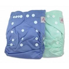 Kit de 2 couches lavables TE1 Pressions - Sunny Pocket