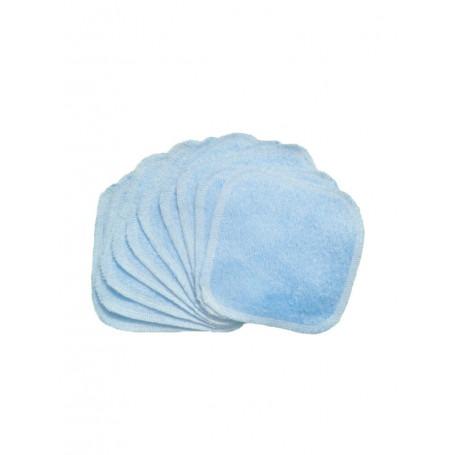 Lot de 10 lingettes lavables Bleu Ciel - Bumdiapers
