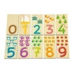 Puzzle Nombres - Jouet bois bébé Andreu Toys