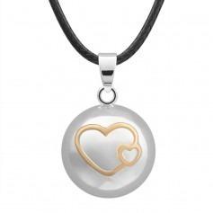 Bola de Grossesse Silver double coeur doré