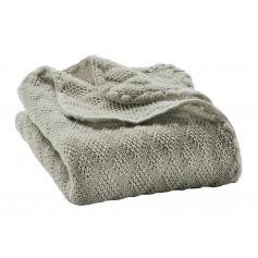 Couverture bébé en pure laine vierge Grise - Disana