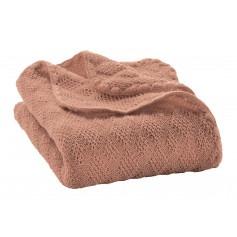 Couverture bébé en pure laine vierge Rose- Disana