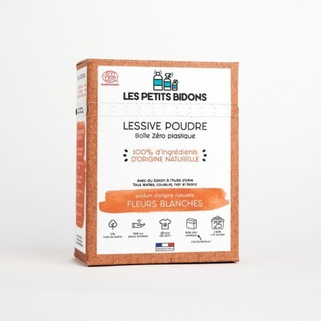 Lessive poudre Fleurs Blanches made in France - Les Petits Bidons