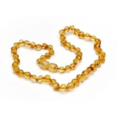 Collier d'ambre Miel