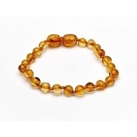 Bracelet d'ambre bébé - Miel