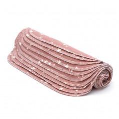 10 grandes lingettes lavables - Rose Etoiles - Mon Petit Paquet
