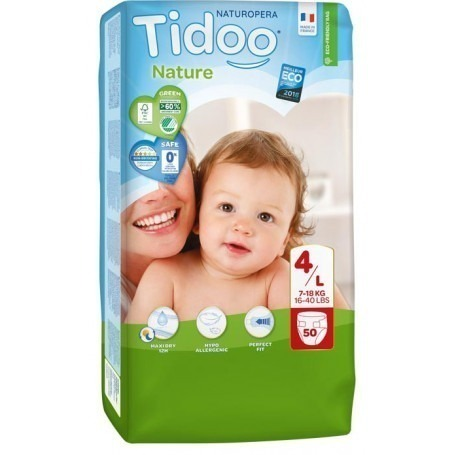 1 Paquet TIDOO - 50 Couches (T4) - 7/18kg