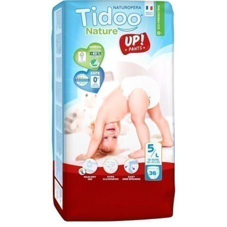 1 Paquet TIDOO - 36 Couches-culottes Stand up (T5) - 12/18 kg
