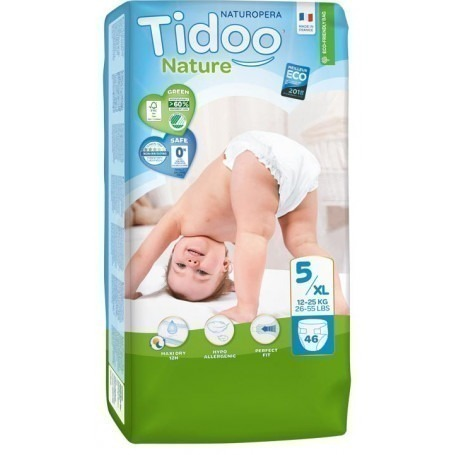 1 Paquet TIDOO - 46 Couches (T5) - 12/25kg