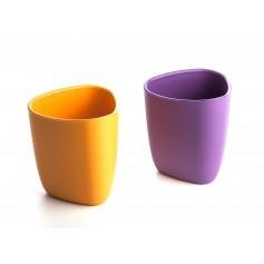 Set de deux verres écologiques bébé - Violet/Orange - ekoala