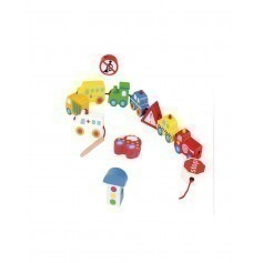 Perles en bois à lacer Transports - Andreu Toys
