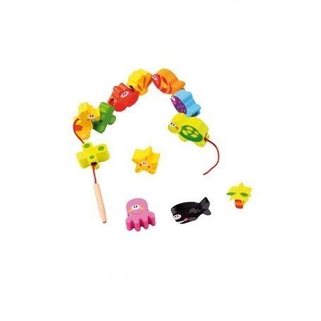 Perles en bois à lacer Océan - Andreu Toys