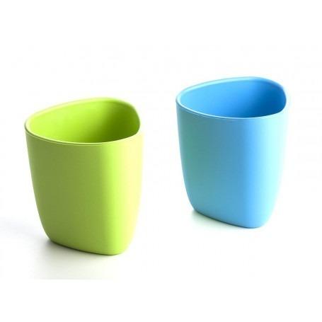 Set de deux verres écologiques bébé - Bleu/Vert - eKoala