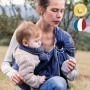 Sling de portage bébé - Bleu Fregate - Néobulle