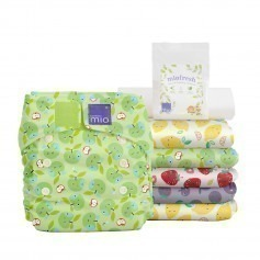Pack 6 Couches lavables TE1 Miosolo - Panier Fruité - Bambinomio