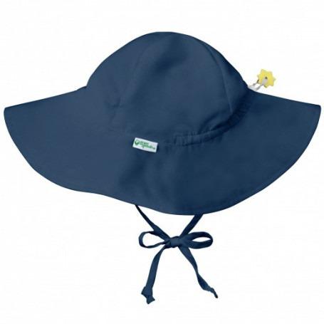 Chapeau bébé anti UV à large bord Marine